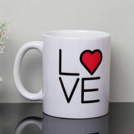 White Printed Mug