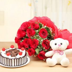 Truffle with Roses and soft toy