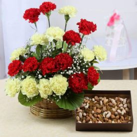 Carnation With Dry Fruits