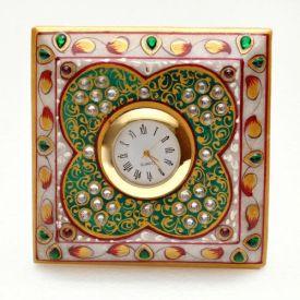 Square Clock (Marble)