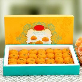 Box of Motichoor Ladoo