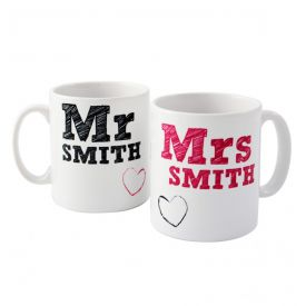 Personalized Mr. Mrs. Mug