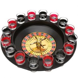 Drinking Roulette Game & Shot Glasses