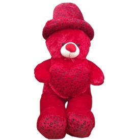 Red Teddy Bear with Heart