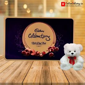 Teddy Bear with Celebration Pack