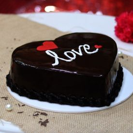 Chocolate Cake Heart Shaped