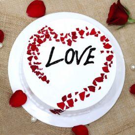 Heart shape choco cherry cake
