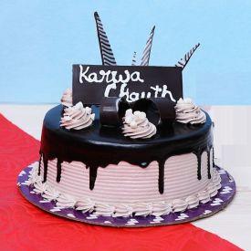 Karwa Chauth Choco Cake
