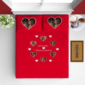 Printed Heart Design Bad Sheet