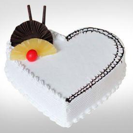 Vanilla Heart Shaped Cake