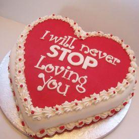 Double heart fondant cake