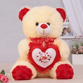Cute Teddy bear with little heart