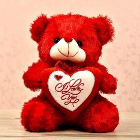 SMILEY LOVE CHUBS WITH I LOVE YOU HEART TEDDY BEAR 18 INCH