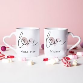 Personalized Heart Handle Mug