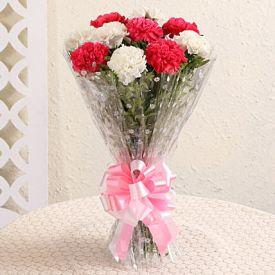 18 mix carnation flowers Arrangments