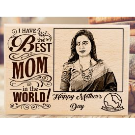 The Greatest Mum Personalized wooden board