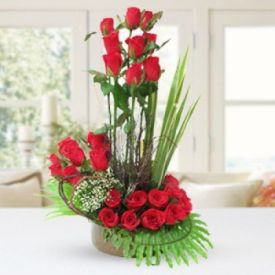 Roses arrangements in 3- layer