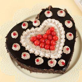 Heart shape choco Vanilla cake