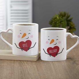 Heart Handle Couple Mug