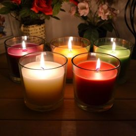 Glass Multi candles