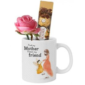 Mug (Customize), 16 Pcs Ferrero Rocher and small Teddy bear