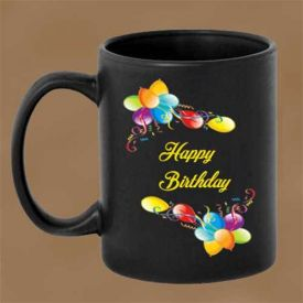 Happy Birthday Mug with Heart Handle