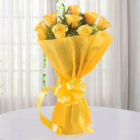 Friendship Day Bunch of 12 yellow roses