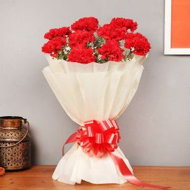 Bunch Of Red Carnation