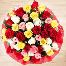 Bunch of 50 Mixed Roses
