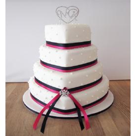 Heart Cake in 3 tier