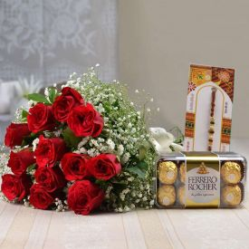 12 Red roses,I love you balloon and 6 inch teddy bear