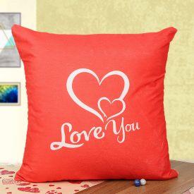 Double heart cushion
