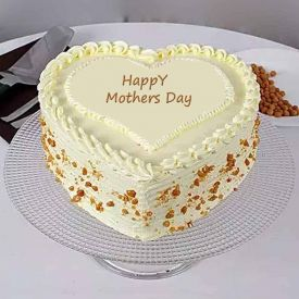 Mother's day white forest cake