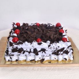 Square shaped Black forest cake