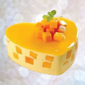 Heart Shape mango cake
