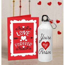 Gifts For Sipper 600 ml Water Bottle (I Love U)
