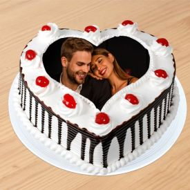 Heart Shape Black forest photo cake