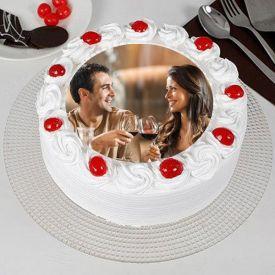 Round Shape Photo Cake