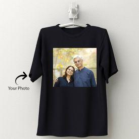 Personalized Black Cotton T-Shirt 145