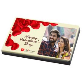 Photo on Chocolate bar - Valentines Day Gift