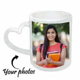 Personalized Mug with Heart Handle