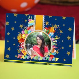 Happy Birthday Personalized Photo Greeting card
