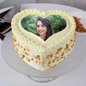 Heart Shaped Photo Cake