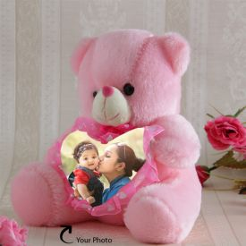 Photo Personalized Teddy In Pink