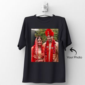 Black Tshirt Personalized With Photo