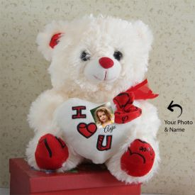 Off White Photo Personalized Teddy