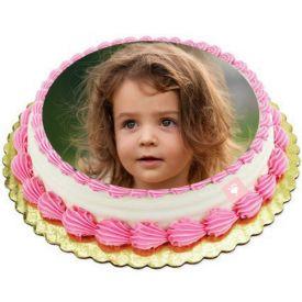 Vanilla Cream Photo Cake