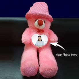 Photo Personalized Pink Teddy