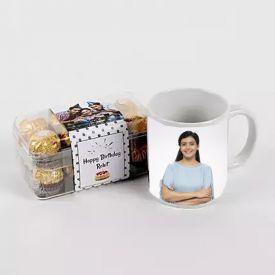 Mug (Customize) and 16 Pcs Ferrero Rocher Chocolates