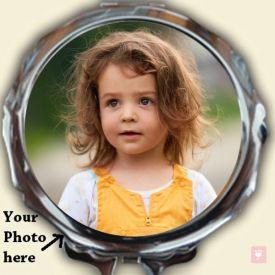 Round Photo Mirror